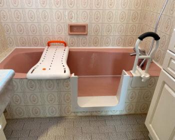 Porte étanche sur baignoire